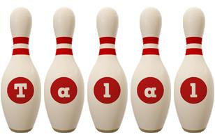 Talal bowling-pin logo