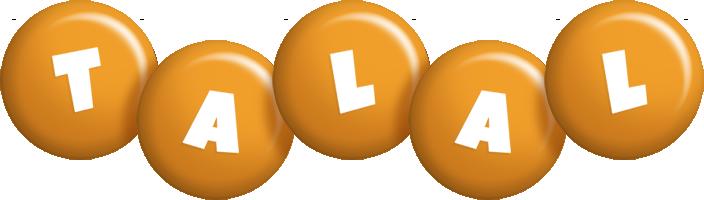 Talal candy-orange logo