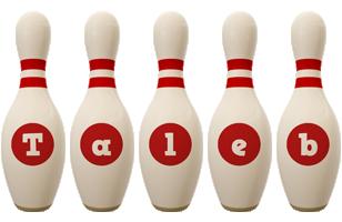 Taleb bowling-pin logo