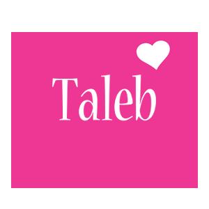 Taleb love-heart logo