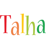 Talha birthday logo