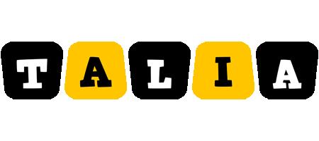Talia boots logo