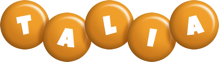 Talia candy-orange logo