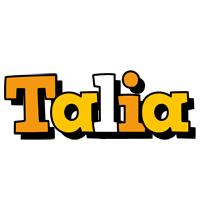 Talia cartoon logo
