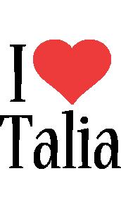 Talia i-love logo