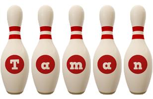 Taman bowling-pin logo
