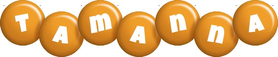 Tamanna candy-orange logo