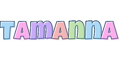 Tamanna pastel logo