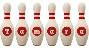 Tamara bowling-pin logo
