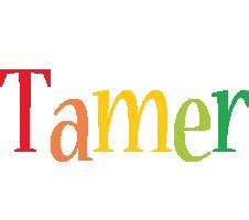 Tamer birthday logo