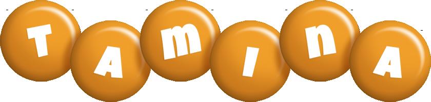 Tamina candy-orange logo