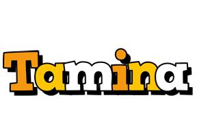 Tamina cartoon logo
