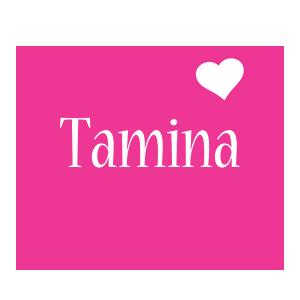 Tamina love-heart logo