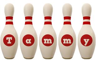 Tammy bowling-pin logo