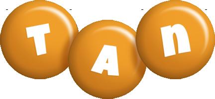 Tan candy-orange logo
