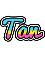 Tan circus logo