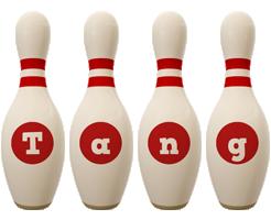 Tang bowling-pin logo
