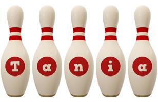 Tania bowling-pin logo