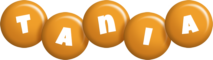 Tania candy-orange logo