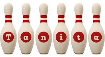 Tanita bowling-pin logo
