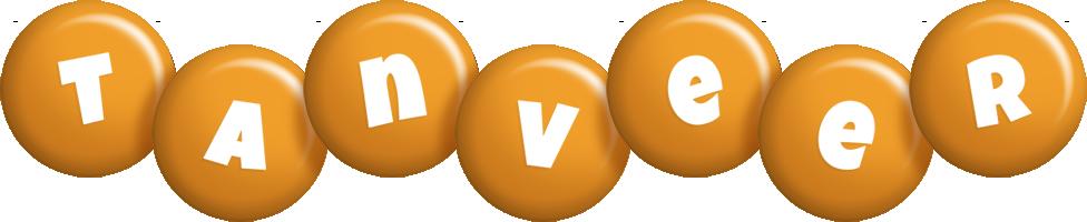 Tanveer candy-orange logo