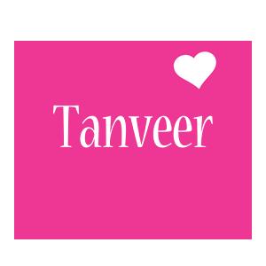 Tanveer love-heart logo