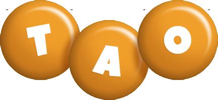 Tao candy-orange logo