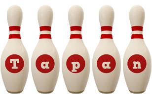 Tapan bowling-pin logo