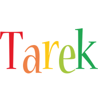 Tarek birthday logo