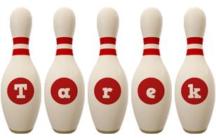 Tarek bowling-pin logo