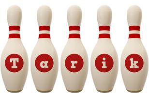 Tarik bowling-pin logo