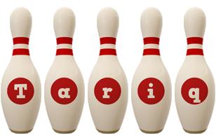 Tariq bowling-pin logo