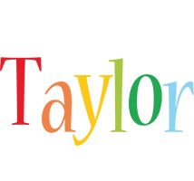 Taylor birthday logo