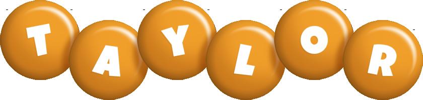 Taylor candy-orange logo
