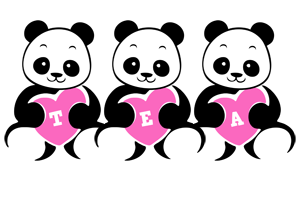 Tea love-panda logo