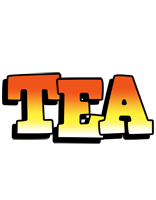 Tea sunset logo