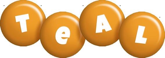 Teal candy-orange logo