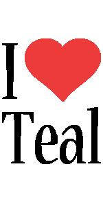 Teal i-love logo