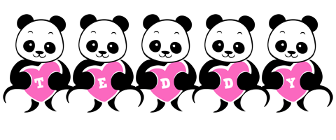 Teddy love-panda logo