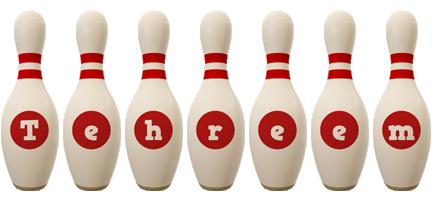 Tehreem bowling-pin logo
