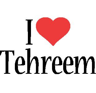 Tehreem i-love logo