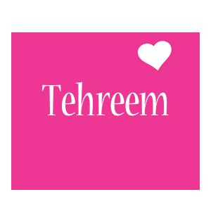 Tehreem love-heart logo
