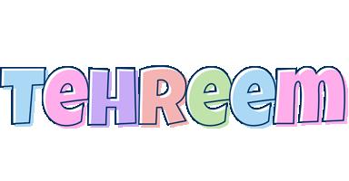 Tehreem pastel logo