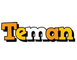 Teman cartoon logo