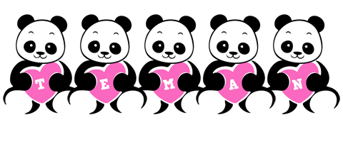 Teman love-panda logo