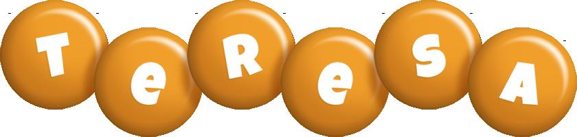Teresa candy-orange logo