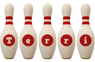 Terri bowling-pin logo