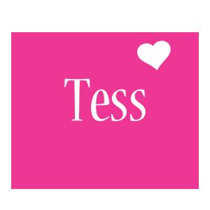 Tess love-heart logo
