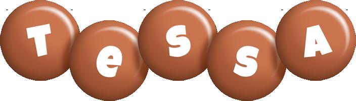 Tessa candy-brown logo