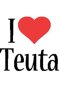 Teuta i-love logo